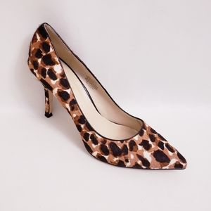 Nine West Calf Hair Animal Print Flax Pumps, Sz 10